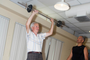 Senior Resistance Training With Free Weights From Total Body Improvement
