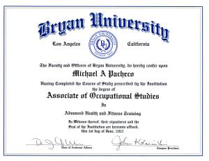 Diploma Bryan University